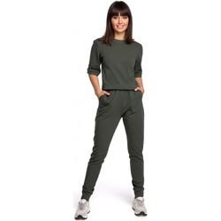 Kleidung Damen Overalls / Latzhosen Be B104 Jumboanzug mit V-Ausschnitt - marineblau