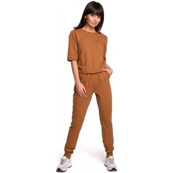 Kleidung Damen Overalls / Latzhosen Be B104 Jumboanzug mit V-Ausschnitt - Militärgrün