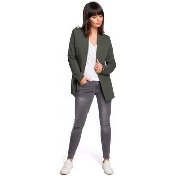 Kleidung Damen Kleider Be B103 Offener Blazer Übergröße - Militärgrün