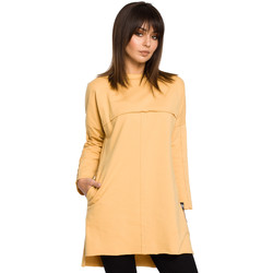 Kleidung Damen Tuniken Style S136 Etuikleid mit Chiffonärmeln - schwarz