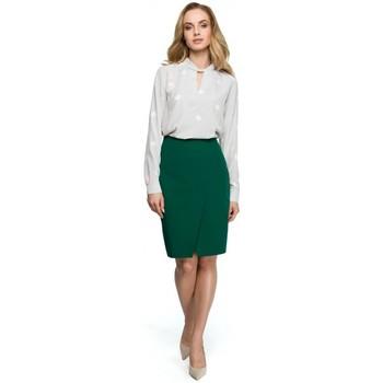 Kleidung Damen Tops / Blusen Style S127 Wickel-Bleistiftrock - grün