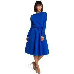 Kleidung Damen Kurze Kleider Be B087 Kleid Fit und Flare Midi - Königsblau