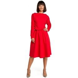 Kleidung Damen Kurze Kleider Be B087 Kleid fit and flare midi - rot
