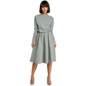 Kleidung Damen Kleider Be B087 Kleid Fit und Flare Midi - grau
