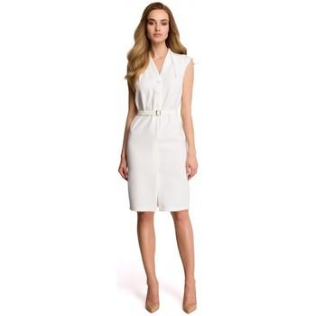 Kleidung Damen Sweatshirts Style S102 Ärmelloses Hemdkleid - ecru