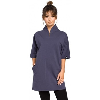Kleidung Damen Tops / Blusen Be B043 Kimono-Tunika - blau