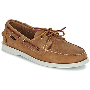 Schuhe Herren Bootsschuhe Sebago DOCKSIDES PORTLAND CRAZY H Braun