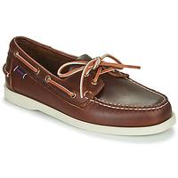 Schuhe Herren Bootsschuhe Sebago DOCKSIDES PORTLAND WAXED Braun