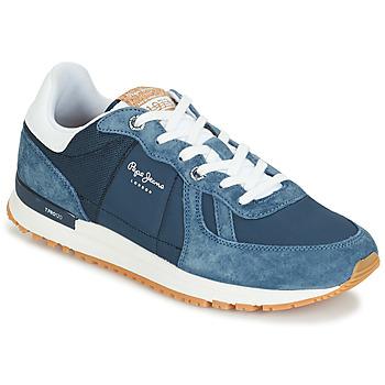 Schuhe Herren Sneaker Low Pepe jeans TINKER PRO Blau