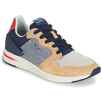 Schuhe Herren Sneaker Low Pepe jeans JAYKER DUAL D LIMIT Blau / Beige