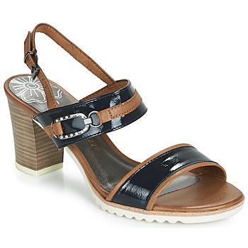 Schuhe Damen Sandalen / Sandaletten Marco Tozzi TRELEME Camel / Marine