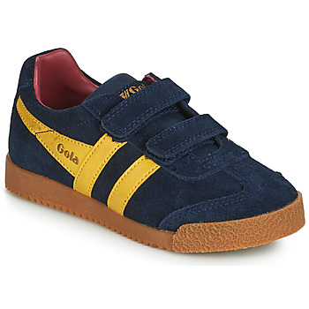 Schuhe Kinder Sneaker Low Gola HARRIER VELCRO Blau