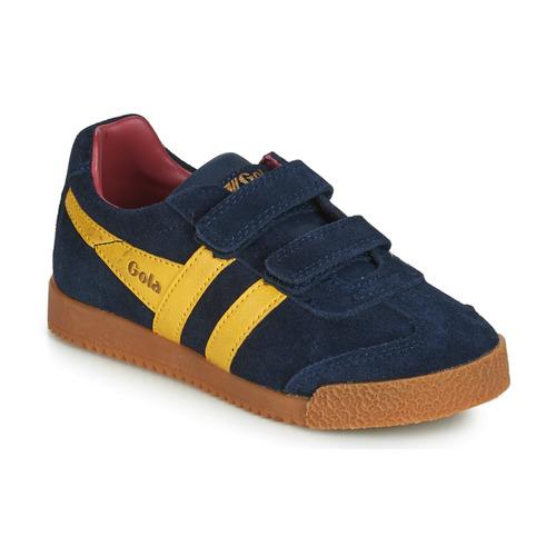 Schuhe Kinder Sneaker Low Gola HARRIER VELCRO Blau