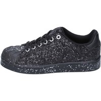 Schuhe Mädchen Sneaker Low Solo Soprani mädchen sneakers schwarz glitter BT294 schwarz