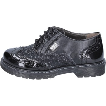 Schuhe Mädchen Derby-Schuhe Solo Soprani mädchen elegante schwarz glitter leder BT296 schwarz