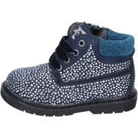 Schuhe Mädchen Low Boots Asso mädchen stiefeletten blau wildleder strass BT297 blau