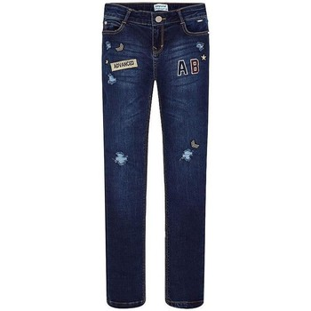 Kleidung Mädchen Straight Leg Jeans Mayoral PANTALON LARGO TEJANO FANTASIA blue