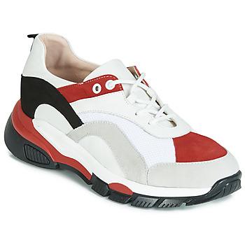 Schuhe Damen Sneaker Low Tosca Blu KELLY Weiss / Rot