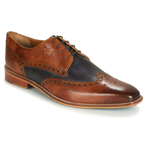 Schuhe Herren Derby-Schuhe Melvin & Hamilton MARTIN 16 Braun / Blau