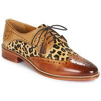Schuhe Damen Derby-Schuhe Melvin & Hamilton BETTY-4 Braun / Leopard