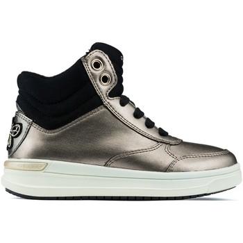 Schuhe Kinder Sneaker High Geox Jr Aveup Mädchen Stiefeletten GOLD