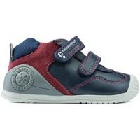 Schuhe Jungen Boots Biomecanics DOPPELVERSCHLUSS STIEFEL 181147 BLUE