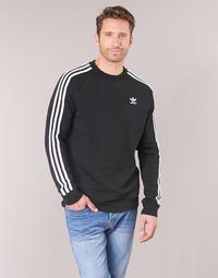 Kleidung Herren Sweatshirts adidas Originals 3 STRIPES CREW Schwarz