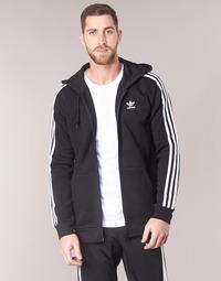 Kleidung Herren Sweatshirts adidas Originals 3 STRIPES FZ Schwarz