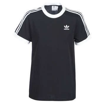 Kleidung Damen T-Shirts adidas Originals 3 STRIPES TEE Schwarz