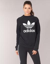 Kleidung Damen Sweatshirts adidas Originals TRF CREW SWEAT Schwarz