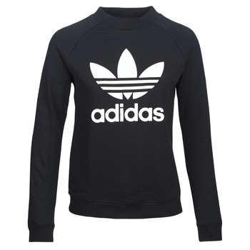 Kleidung Damen Sweatshirts adidas Originals TRF CREW SWEAT Schwarz