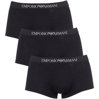 Kleidung Herren Boxershorts/Slips Armani Herren 3 Packungsstämme, Schwarz schwarz