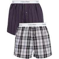 Kleidung Herren Boxershorts/Slips Calvin Klein Jeans Herren 2 Pack Schlanke Trunks, Blau blau