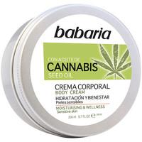 Beauty pflegende Körperlotion Babaria Cannabis Crema Corporal Hidratante Y Bienestar  200 ml