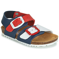 Schuhe Kinder Sandalen / Sandaletten Garvalin BIO  BOY Marine / Rot / Weiss