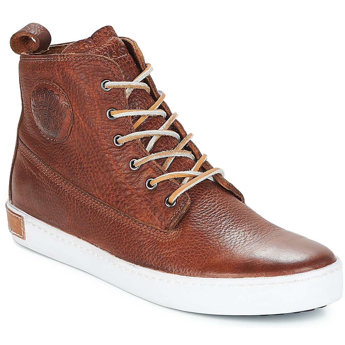 Blackstone INCH WORKER Braun - Kostenloser Versand bei Spartoode ! - Schuhe Sneaker High Herren 159,00 €
