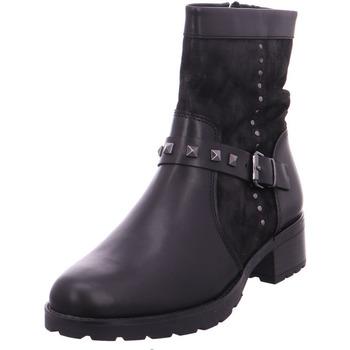 Schuhe Damen Stiefel Stiefelette Damen BLACK COMB