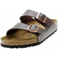 Schuhe Herren Pantoffel Birkenstock Classic 051701 Unisex Tieffussbett-Pantolette Arizona Dunkelbraun Braun