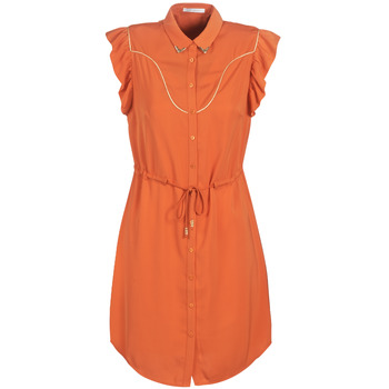 Kleidung Damen Kurze Kleider Les Petites Bombes AZITARTE Korallenrot