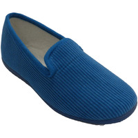 Schuhe Damen Hausschuhe Made In Spain 1940 Kuscheliger Schuh der Frau flacher Soca Blau