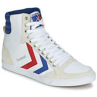 Schuhe Sneaker High Hummel TEN STAR HIGH CANVAS Weiss / Blau / Rot