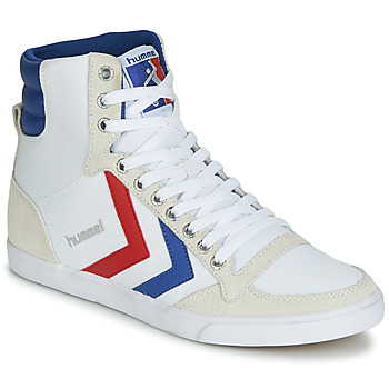 Schuhe Herren Sneaker High Hummel TEN STAR HIGH CANVAS Weiss / Blau / Rot