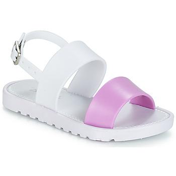 Schuhe Mädchen Sandalen / Sandaletten Be Only ELEA Weiss / Rose