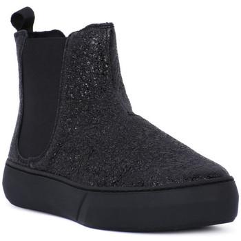 Schuhe Damen Stiefel Frau FERRER NERO Nero
