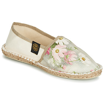 Schuhe Damen Leinen-Pantoletten mit gefloch Art of Soule BOHEME Beige