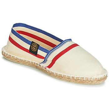 Schuhe Leinen-Pantoletten mit gefloch Art of Soule RAYETTE Beige / Blau / Rot