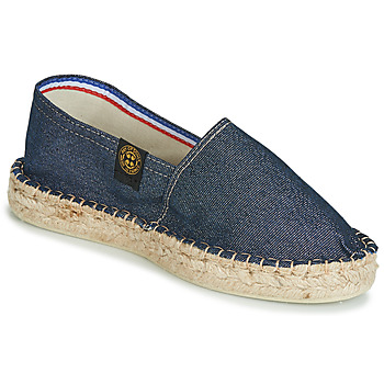 Schuhe Damen Leinen-Pantoletten mit gefloch Art of Soule DOUBLE SEMELLE Marine