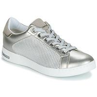 Schuhe Damen Sneaker Low Geox D JAYSEN Silbern