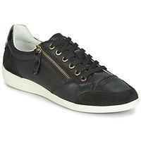 Schuhe Damen Sneaker Low Geox D MYRIA Schwarz