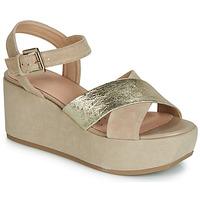 Schuhe Damen Sandalen / Sandaletten Geox D ZERFIE Gold / Maulwurf